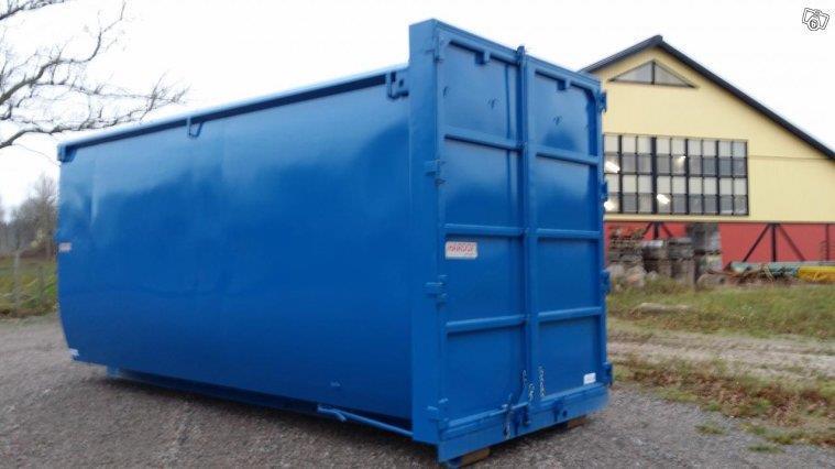 Convex skrotcontainer