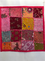 Kuddfodral indiska mönster cerise