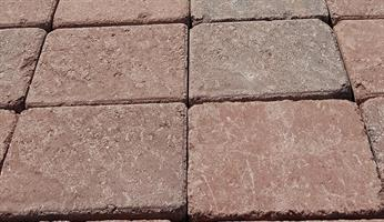 Mosaiken Tumlad Marksten Struktur RödMix 210x140x50 mm