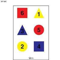 4 färgsobjekt nummrerade ver.C