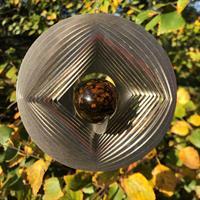 Vindspel Geometri bärnstensgul 35 mm kula