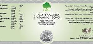 B Komplex med vitamin C 150 mg