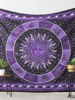 Mandala Dubbel Zodiak Svart-lila