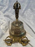 Tibetansk klocka 15x9 cm inkl Dorje 10 cm