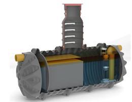 Sepko Oljeavskiljare ECO 6l/s 1200L med sandfång