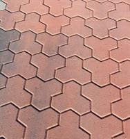 Mosaiken Marksten Klöversten, Normalsten 80mm Rödmix