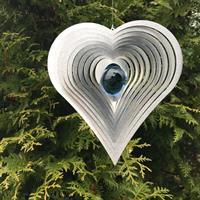 Modell Hjärta Kurvigt blå