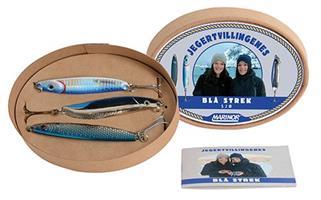 Jegertvillingenes Blå Strek sjø 3pk