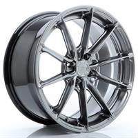 JR Wheels JR37 17x8 ET20-40 5H BLANK Hyper Black