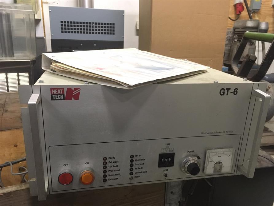 Induktionsaggregat 6kW, 4st + tillbehör i pall
