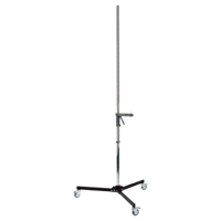 Stand with casters, bracket, folding base