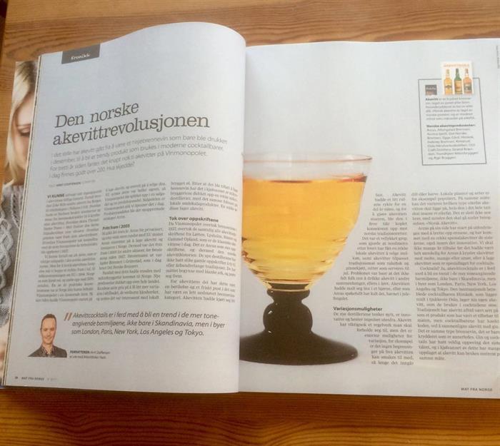 Omtale av Akevittboka i Aftenposten Mat fra Norge