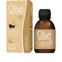 Hårolje med olivenolje og fennikel