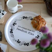 Swedish fika bricka från Erika Tubbin