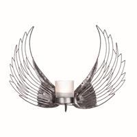 Ljuslykta vingar i hamrad plåt 35cm