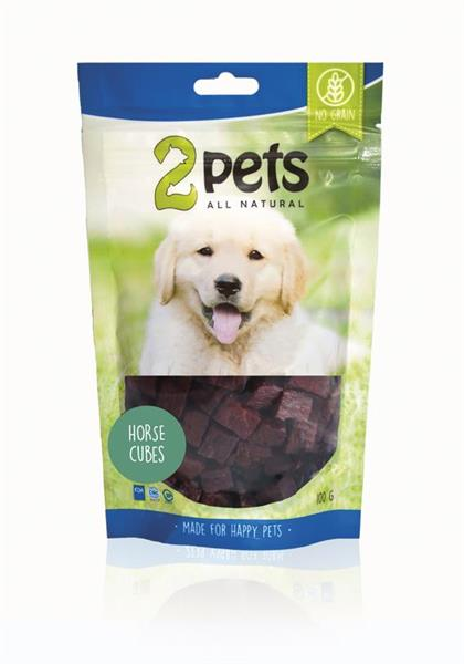 2 Pets Dogsnacks Horse Cubes 100 g