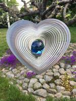 Modell Kombihjärta L blå