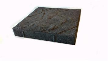 Mosaiken Plattor Struktur 350x350x50mm Grafit