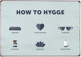 Plåtskylt How to hygge