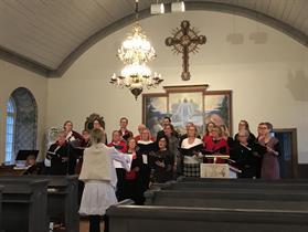 Julkonsert i Rydboholms kyrka december 2017. Genrep.