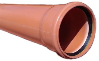 PP markrör 110x3,8x6000 EN-1852 SN8 med muff