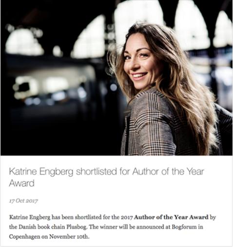 Engberg nominert til «Årets forfatter»