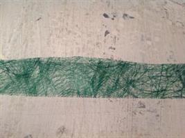 Trådat band i grönt