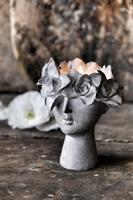Majas Madame floral ljuslykta