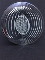 Spiral Flower of life med kristaller 153 mm