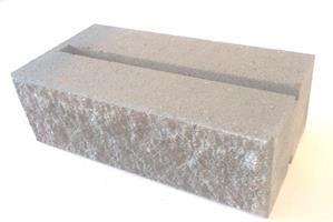 Mosaiken Knäckta Murblock  Skarp kant 420x210x140mm Naturgrå