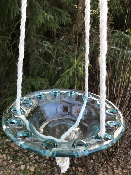 Glas fågelbad/planteringsskål/ljusfat