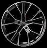 GMP GUNNER 22X9.0 ET35 5X112 Black Diamond
