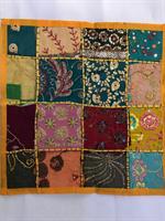 Kuddfodral indiska mönster gul