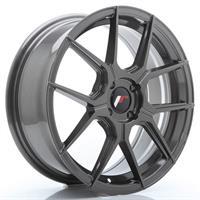 JR Wheels JR30 17x8 ET20-40 5H BLANK Hyper Gray