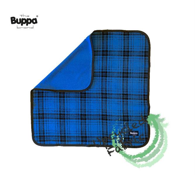 Blanket Double Fleece Blue Checked OUTLET