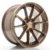 JR Wheels JR37 17x8 ET20-40 5H BLANK Platinum Bron