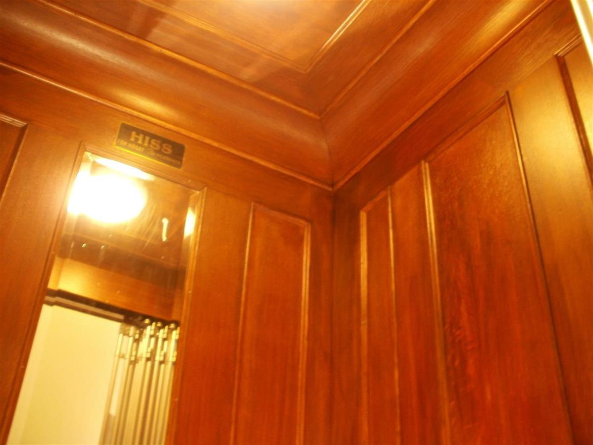 Renoverad hissinredning
