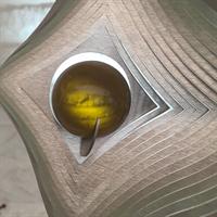 Glaskula 35 mm bärnstensgul