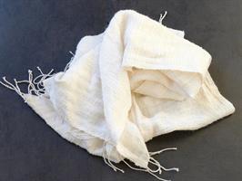 Queen Saba silkeskjerf hvit