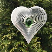 Modell Hjärta Kurvigt grön