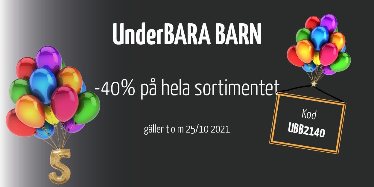 UnderBARA BARN! -40% på hela sortimentet