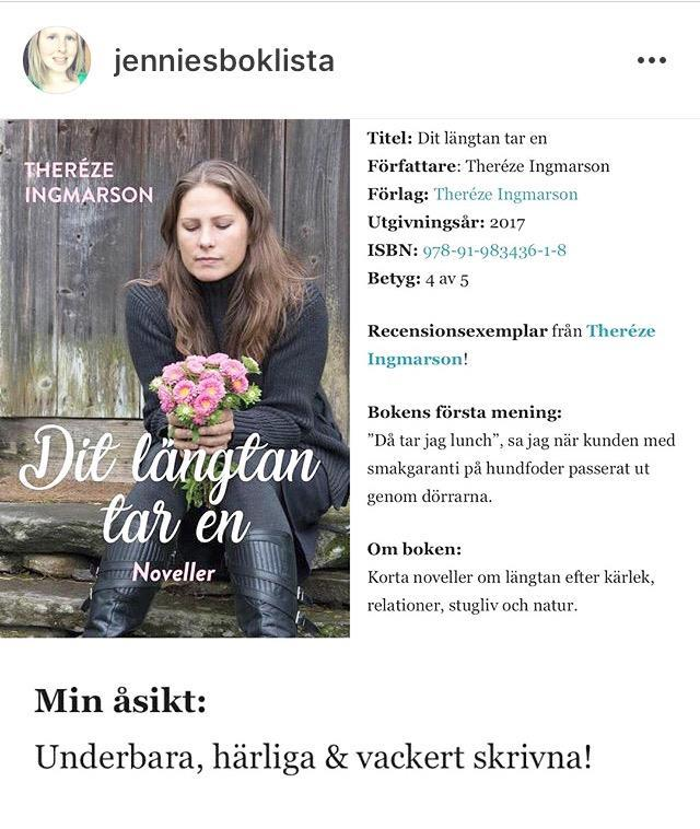 """Jennies Boklista om """"Dit längtan tar en"""""""