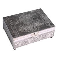 Tarot ask eller smyckeskrin Drömfångare Silverfärg