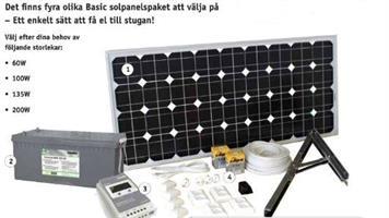 Solpanelspaket 100W Basic