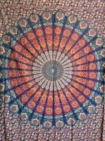 Mandala Peackock Dubbel Blå-grön-orange-röd