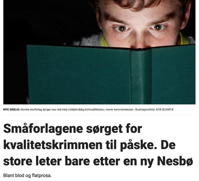 Omtale av Goliat Forlag i Dagbladet