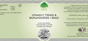 C 750mg & Bioflavonoider 150 mg