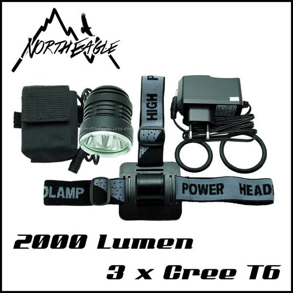 NorthEagle Sykkellykt 2000lm 3xCree