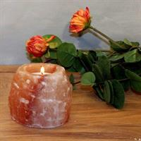 Saltkristallykta ROCK för teljus ca 400g  40mm hål
