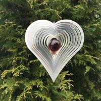 Modell Hjärta Kurvigt röd